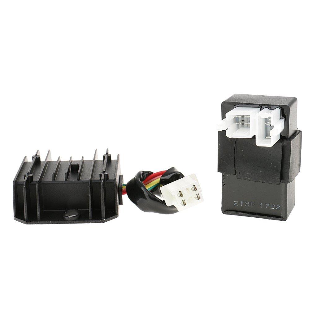 MagiDeal Z/ündspule Relais F/ür 150cc-250cc ATV Quad CDI Box Regler Gleichrichter