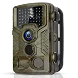 BYbrutek Trail Camera, 16MP 1080P Full HD Deer Hunting Game Camera, 0.2S Motion Activated Wildlife Camera with 46 PCS 850nm IR LEDs Night Vision up to 65ft, 2.4