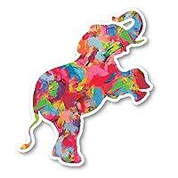 "Elephant Standing Sticker Watercolor Paint Stickers - Laptop Stickers - 2.5"" Vinyl Decal - Laptop, Phone, Tablet Vinyl Decal Sticker S1235"