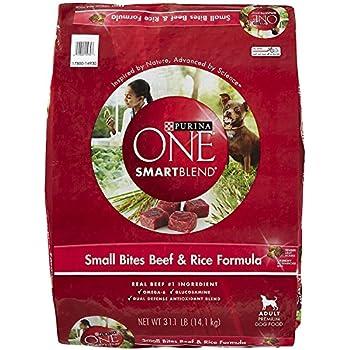 Amazon.com: Purina ONE Adult Small Bites Beef & Rice