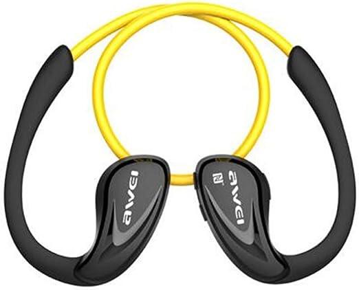 Taoxia Auriculares inalámbricos Deporte Rediseo de Ruido Profundo Bajo Fuerte Agudos NFC Auriculares Bluetooth para Smartphone con micrófono,Yellow: Amazon.es: Hogar