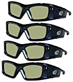 SAMSUNG 4 PACK Compatible eDimensional RECHARGEABLE 3D Glasses for 2011-15 Bluetooth 3D TV's