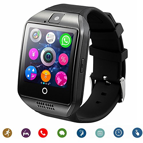Smartwatch TagoBee TB-02 Bluetooth Smart Watch with Camera Music Player Supports SIM/TF Card curved ultra HD touch screen for Android Phones and iPhone (Partial Function) black (black)