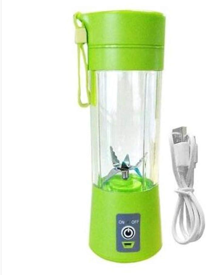Licuadora Portátil De Un Solo Servicio, Personal Licuadora USB Recargable Juguera De Frutas Licuadora De Viaje De Bebé 400Ml Sin BPA (Verde): Amazon.es: Hogar