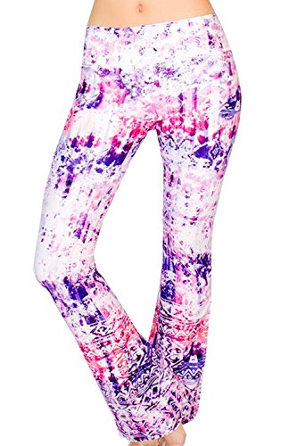 Appleletics Women's Unique Multi-Patterned Maternity Flare Yoga Pants (Small,...