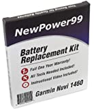 Battery Replacement Kit for Garmin Nuvi 1460 with Installation Video, Tools, and Extended Life Battery.