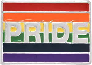 Fundraising For A Cause | Pride Rainbow Rectangle Pins – LGBTQ Pride Flag Pins for Men & Women