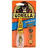 Gorilla Super Glue with Brush & Nozzle Applicator, 12 Gram, Clear, (Pack of 1)