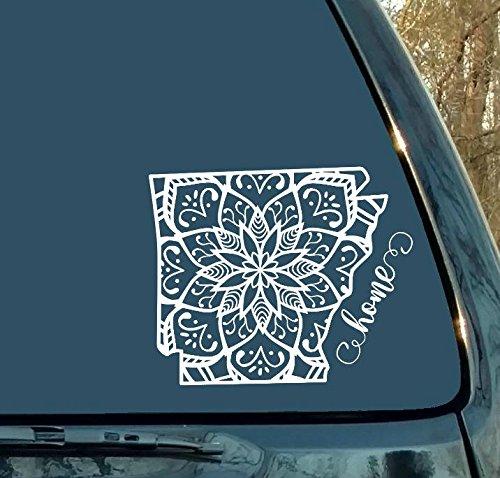 Decals Mandala Arkansas State Car Laptop Sticker Mandala Sticker Cup Mug Home Woman Gift Man Gift Girl Gift
