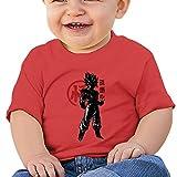 CHZS Unisex Baby Crimson Saiyan Dragon Ball T-Shirt 24 Months Red