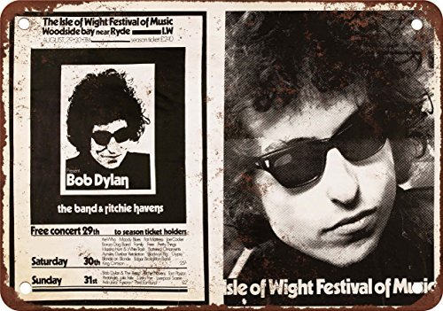 Amazon com: 1969 Bob Dylan at the Isle of Wight Vintage Look