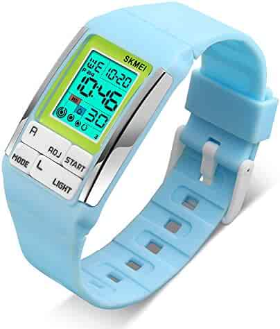 Kids Digital Watches for Boy Girl with Sport Timer - Reminder Alarms, 50M Waterproof (blue)