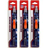 Siskiyou Denver Broncos Toothbrush - 3 Pack