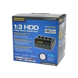 Aleratec 350117 1:3 HDD Copy Dock 4-Bay Duplicator/Dock with USB3.0 and eSATA Connectivity