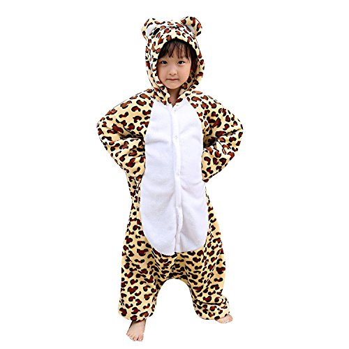 [Interming Leopard Pajamas kids Pajamas Animal Cartoon Pajamas Warm Pajamas] (The Nightmare Before Christmas Sexy Jack Costumes)