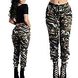 Leedford Women Fashion Camouflage High Waist Wide Leg Pants Sports Cargo Pants Loose Yoga Legging Trousers (3XL, Multicolor)