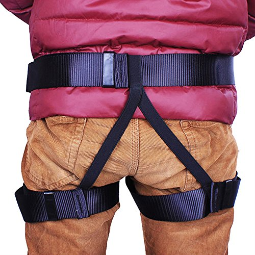 Climbing Harness Safety Seat Belt For Mountaineering Fire Rescue Rock Climbing Gym Reppelling Women Men Child Half Body Guard Protect Harness