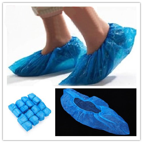 100x Disposable Plastic Thick Carpet Cleaning Shoe Cover IRISMARU