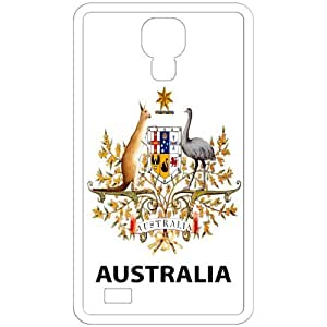 Australia - Country Coat Of Arms Flag Emblem White Samsung Galaxy S4 i9500 Cell Phone Case - Cover