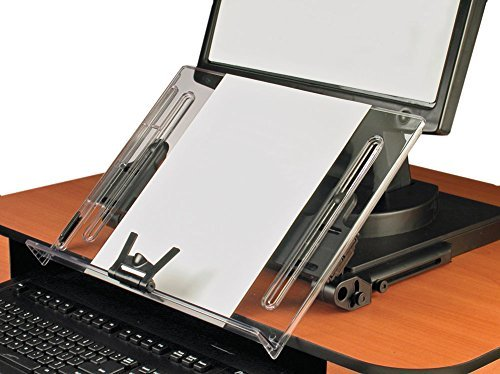 (VUR18KB - Ergonomic Document Holder, 18x11, Clear by