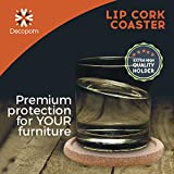 Cork Coasters with Lip for Drinks Absorbent | 12