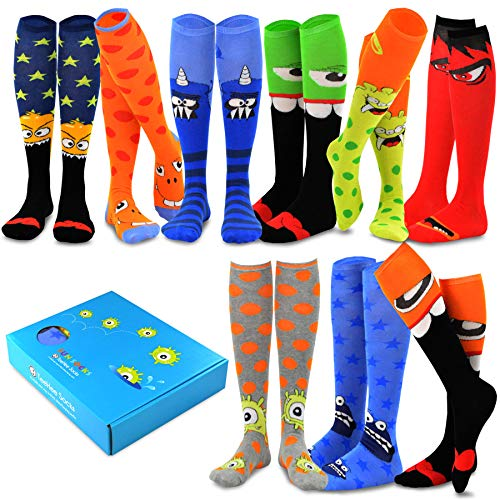 TeeHee Special (Holiday) Women Knee High 9-Pairs Socks with Gift Box (Fun Theme-B)]()
