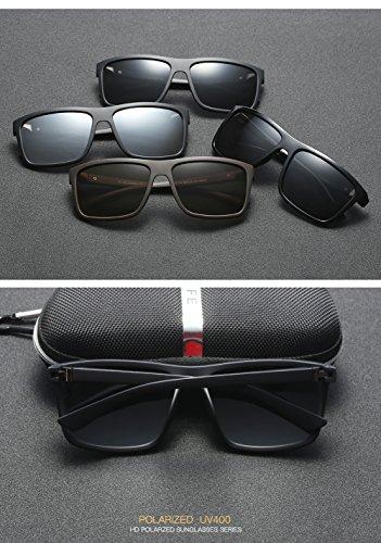 C4 para De Gafas UV 400 para C4 Mujer Sol Aviator Protección Hombre Polarizadas U7wwfqYxR