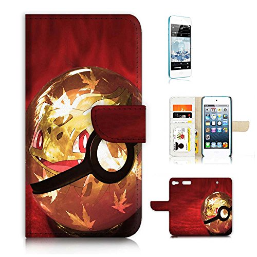 ( For iPod Touch 6 iTouch 6 ) Flip Wallet Case Cover & Screen Protector Bundle! A20318 Pokemon (Itouch Flip Case)