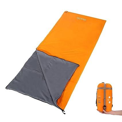 OUTAD - Saco de Dormir Ultraligero, portátil, Impermeable, 3 Estaciones, para Viajes