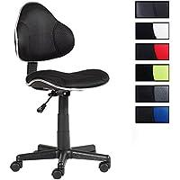 IDIMEX Chaise de Bureau pour Enfant Alondra Fauteuil pivotant avec Hauteur réglable, revêtement en Mesh Noir/Noir