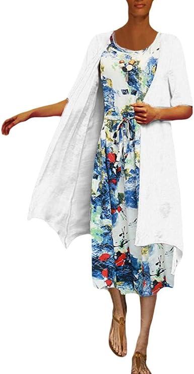 Summer Comfy Knee Length Dress Women Simple Tunic T Shirts Dress Ladies Casual Plain Crew Neck Shorts Sleeve Shift Dresses