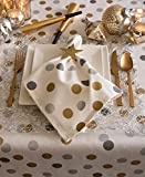 DII CAMZ38071 Tablecloth, 60x104, Metallic Confetti