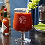 Bloody Mary Bar Personalized Hurricane Glass by HomeWetBar - Unique Birthday Gift