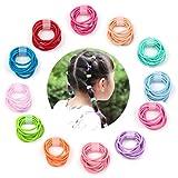Elesa Miracle 120pcs Baby Elastic Hair Ties 1.8mm Mix Colors Kids Hair Bands Holders Headband