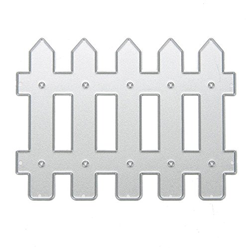 Dream_light Metal Cutting Dies, Embossing Dies Stencil Template Mould for DIY Scrapbooking Photo Album Paper Card Making Craft Wedding Party Decoration DIY Gift, Die-Cuts (Fence)