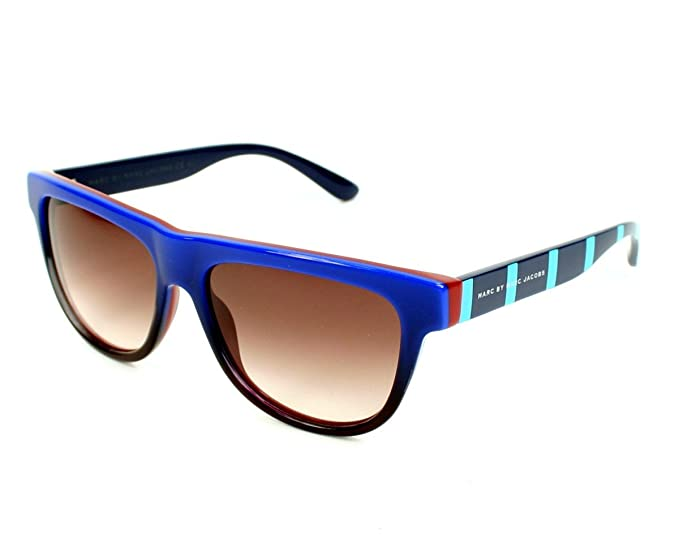 8829e354c4339 Marc By Marc Jacobs 315 Blue   Striped Blue Frame Brown Gradient Lens  Plastic Sunglasses  Amazon.co.uk  Clothing