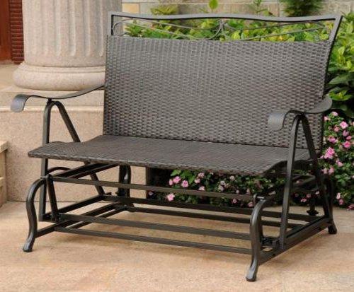 Resin Wicker Single (Wicker Resin/Steel Single Hanging Patio Chair Swing (Black Antique))