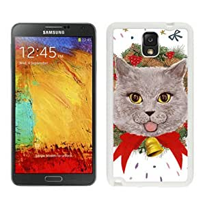 Customization Christmas Wreath Cat White Samsung Galaxy Note 3 Case 10