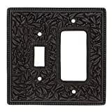 Vicenza Designs WPJ7014 San Michele Wall Plate with Jumbo Toggle and Dimmer Opening, Oil-Rubbed Bronze