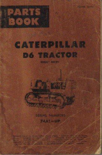CAT-34999 Caterpillar D6 Tractor Direct Drive Parts Manual