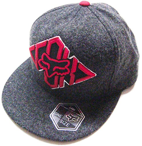 Fox Racing Created To Destroy Gray/Red/White Flat Brim Sn...