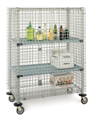Metro-InterMetro-Emerson-MQSEC53DE-40-34L-x-27-78W-x-40-34H-Taupe-Steel-Wire-Security-Cart-900-lb-Load-Capacity