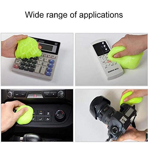 HOTKEI Super Clean Magical Universal Cleaning Slime Gel Reusable Dust Cleaner for Keyboard, Laptops, Car Accessories, Electronic Products Washable Dust Cleaning Gel for Home Office Car Use Pack of 1