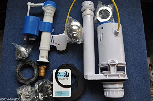 Professional Complete Toilet Upgrade Dual Flush Drop Valve & Fill Valve DIY Fit