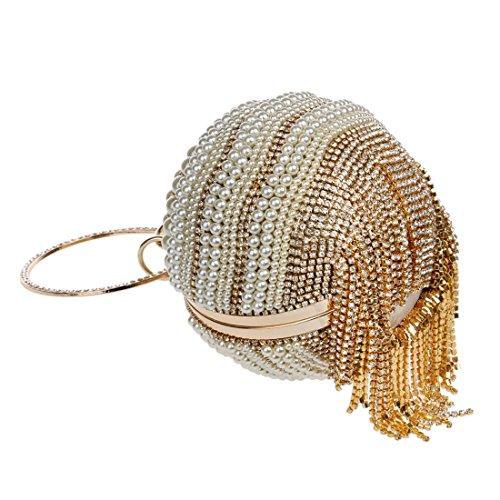 La Del Borla Silver Elegante Gold Bola Hemotrade color De Mujeres Banquete Bolso Tarde Las HTnqIEpgx