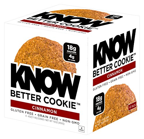 Know Foods Gluten Free  Low Carb  Protein Cookies  Cinnamon  4G Net Carbs   4 Count