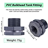 Outus 2 Pieces PVC Bulkhead Fitting for Rain