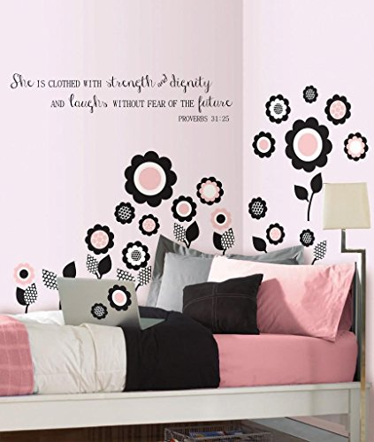 31 Wall (She Is Clothed with Strength and Dignity and Laughs Without Fear of the Future Proverbs 31:25 -Wall Decal-26