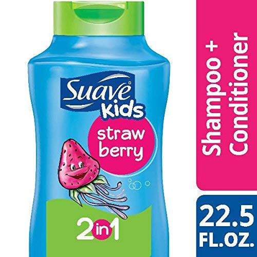 Suave Kids 2 in 1 Shampoo & Conditioner, Strawberry 22.5 oz (Pack of 2) by Suave