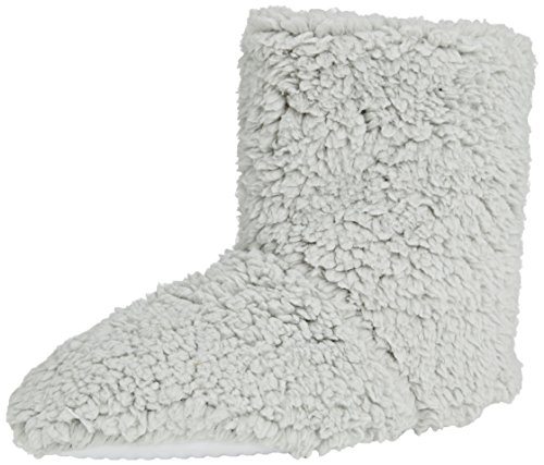 Spot On Fluffy Bootie - pantuflas con forro cálido de sintético mujer gris - gris (gris)